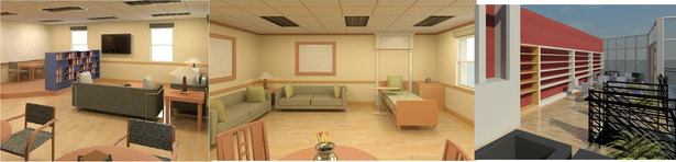 Revit: Broward General Hospice (Ft. Lauderdale, Fl.): Patient room