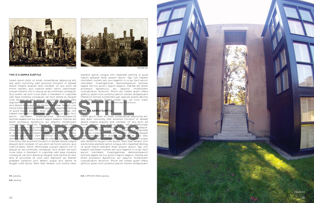 Thesis Spread (text still in process) Demonstrating Embodiment of the Lost Ruins through Proportion and Material 'Coding'