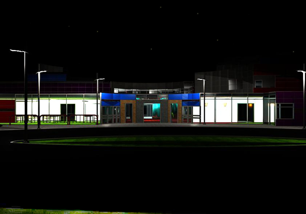 School at night
