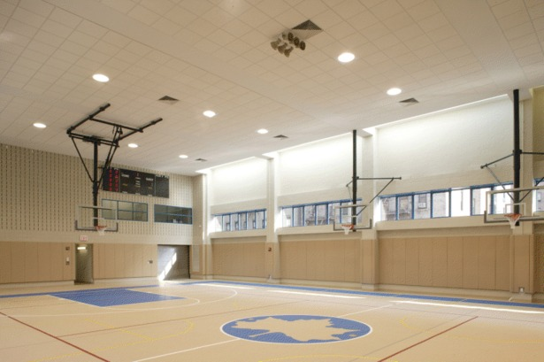 The Chelsea Recreation Center gymnasium.