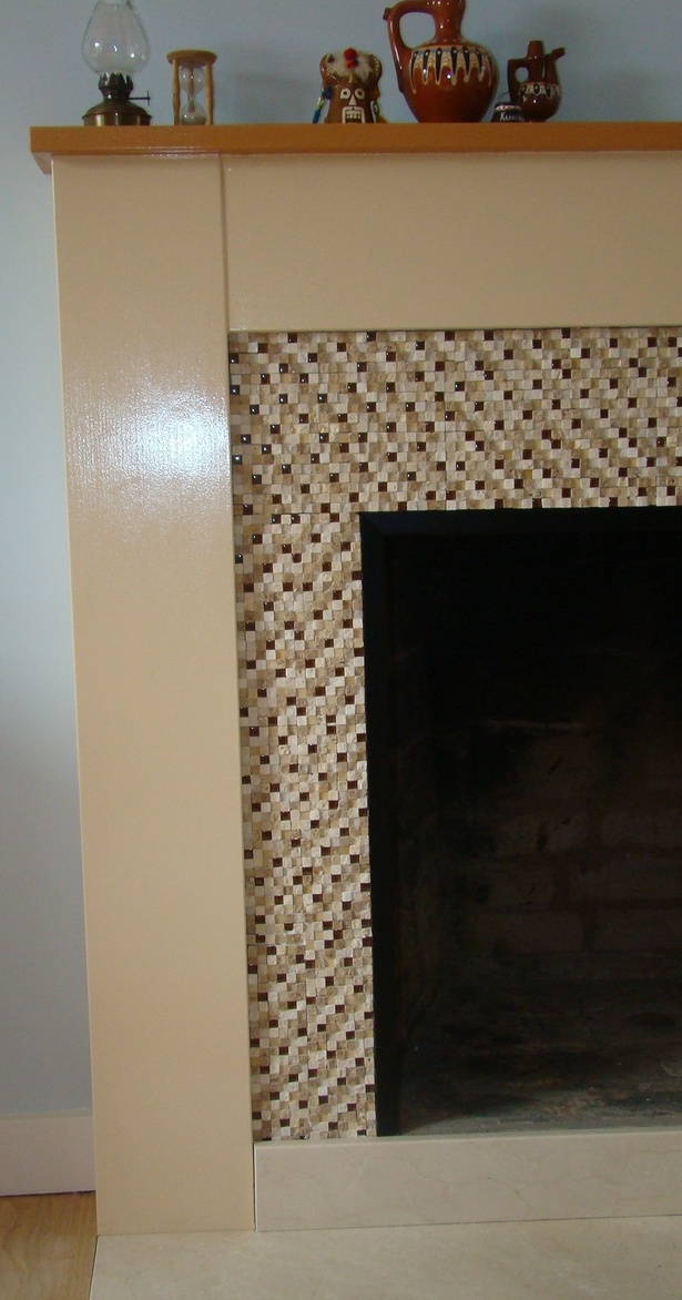re-designed fireplace - detail