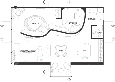 fist floor plan (AutoCAD)