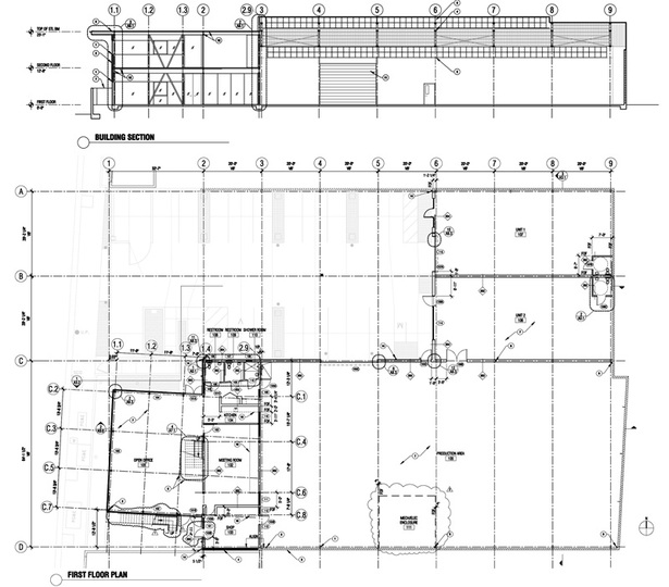 Plan + Section.