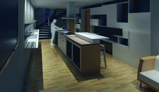 Level 1 Kitchen / Living