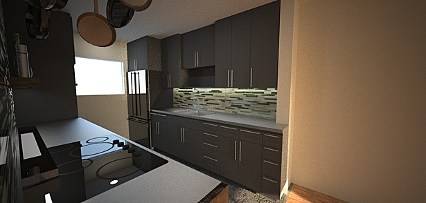 Kitchen proposal render - View 2