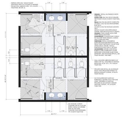 Ada Public Restroom Dimensions