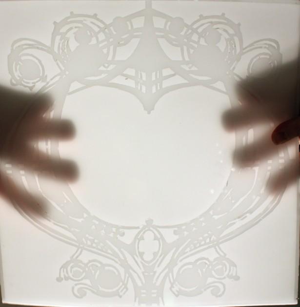 tile in wax cast