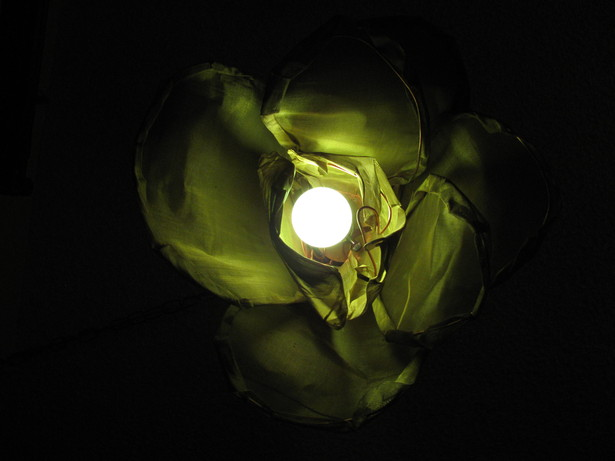 Green ceramic bulb, up view