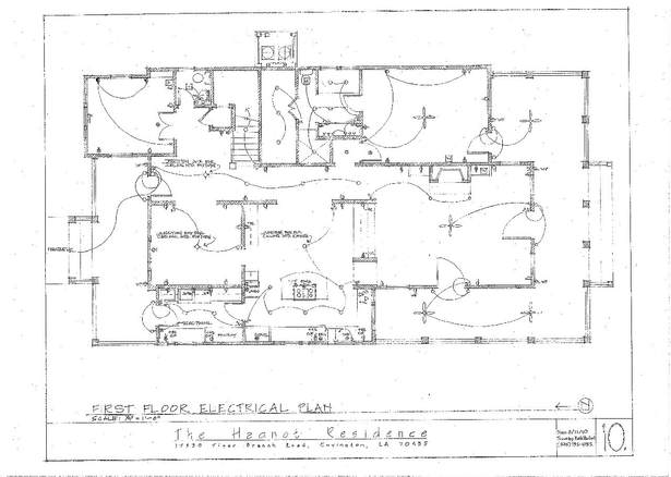 First Floor Electrical Plan