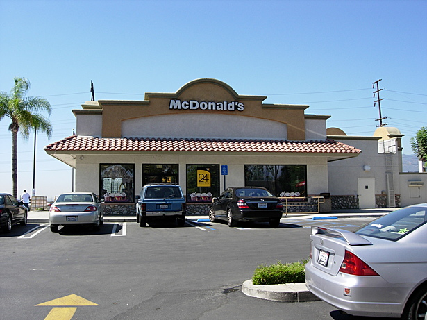 Irwindale McDonald's New 2010 - Updated to Mission Style Architecture to comply with city