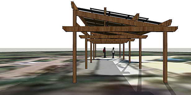 Proposed Arbor From Baci Ball Court