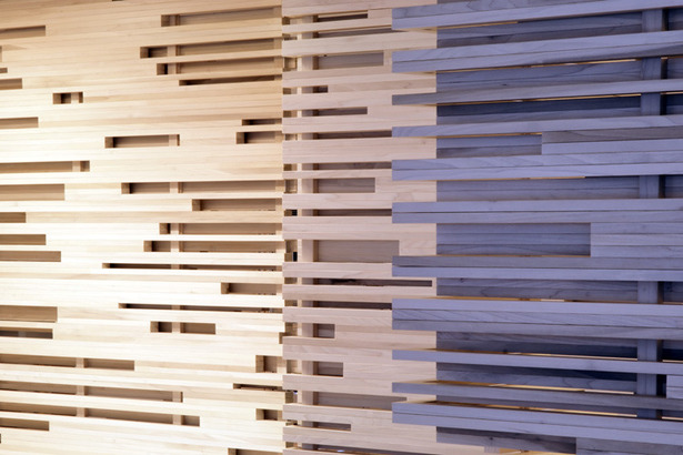 Light Rhythm Slatted Wood Dividers. Photo: T.G. Olcott