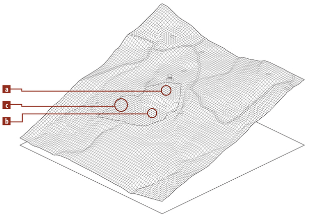 site topography with context (Rhino 3D, Adobe Illustrator)