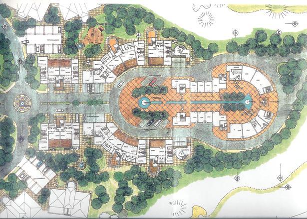 Master plan for a urban design golf course touristic for Hotel design course