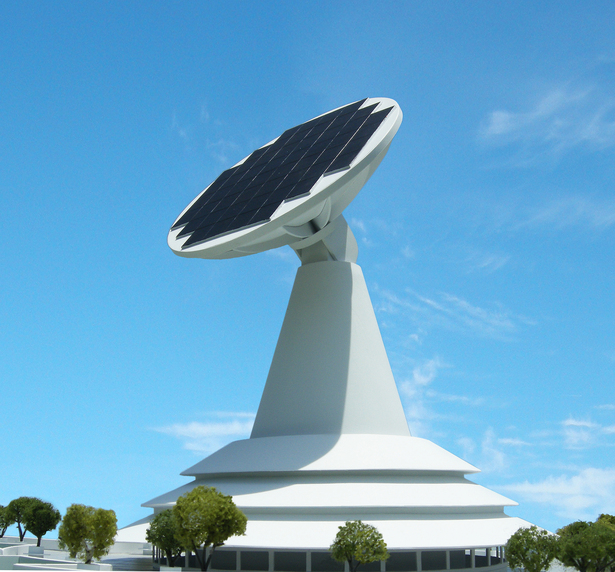 Detail of the sun tracking solar cell array