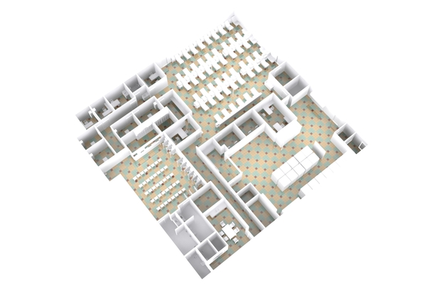Aerial view of Everett Donor Center layout