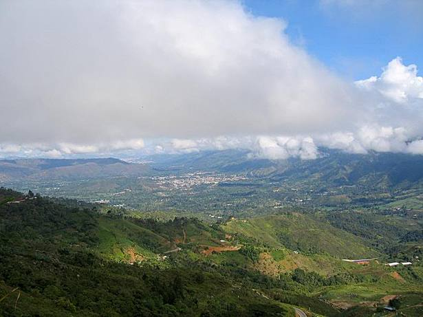 View from the site into the Floridablanca valley
