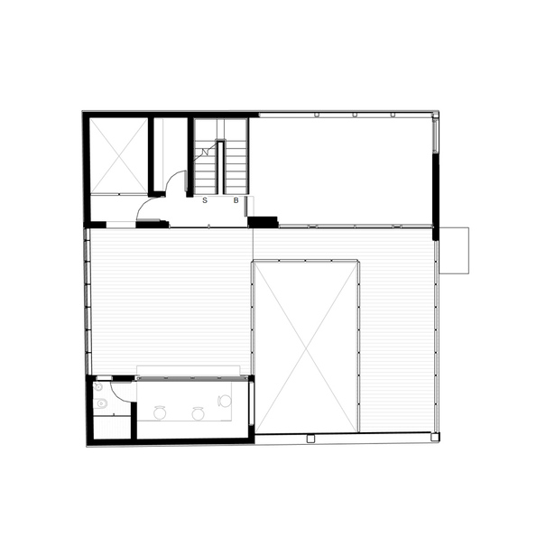 Terrace level plan. PAUL CREMOUX studio