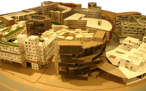 project model in studio site context