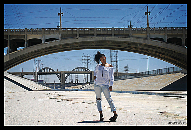 original photo: L.A. River fashion shoot