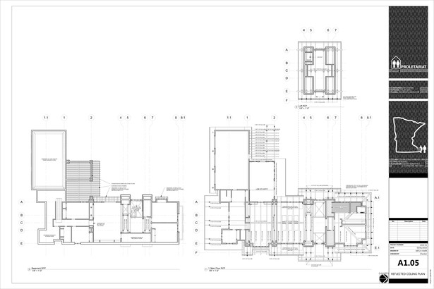 Karr Residence. Construction Drawings. Reflected Ceiling Plans.