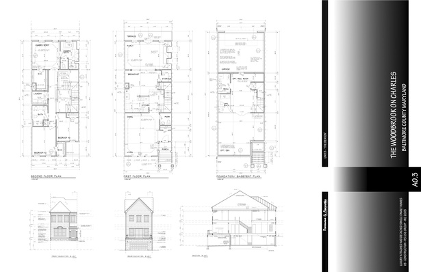Plans, Elevations and Section