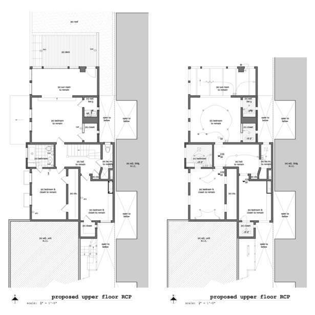 Existing & Proposed Upper Floor RCP