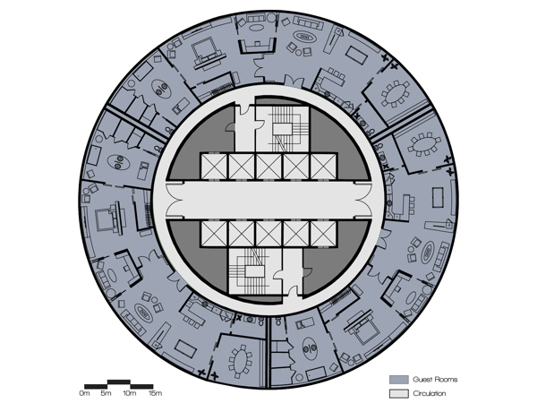 Premiere Suite Level Floor Plan.