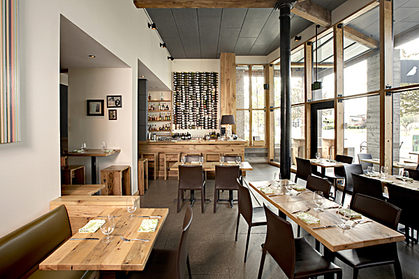 Interior of the tenant resturant space in The Green Building