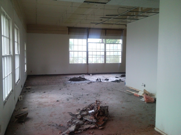 The space during demolition