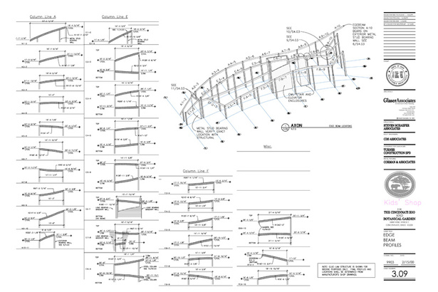 Glulam Elements: construction drawing