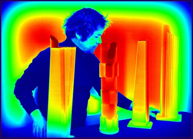 Models and infrared cameras are successfully used in building designs and inspections for heat loss and energy conservation studies, moisture detection, and pest control applications.
