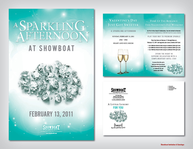 Showboat Invitation & Envelope