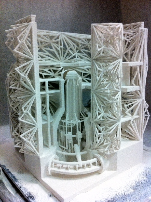 Section Cutaway model of Transformed Reactor (Zcorp 3d Print)01