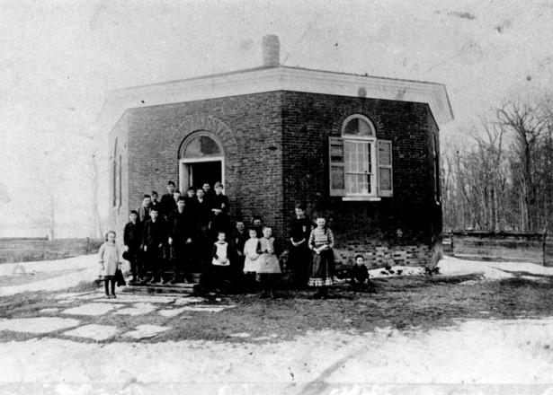 Class photograph, taken 1880.