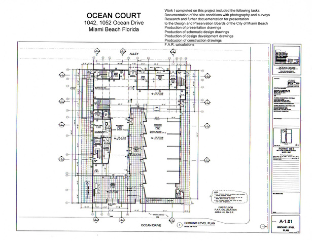 Ocean Court-first floor plan