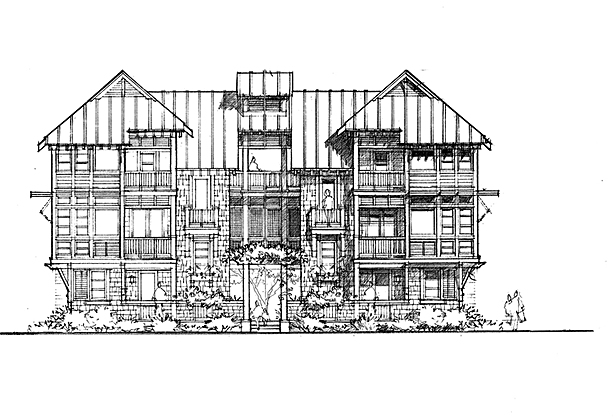 HARBOR SIDE ELEVATION - ORIGINAL CONCEPT