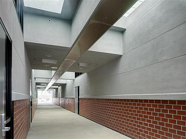 Daylighting at Science Building central corridor