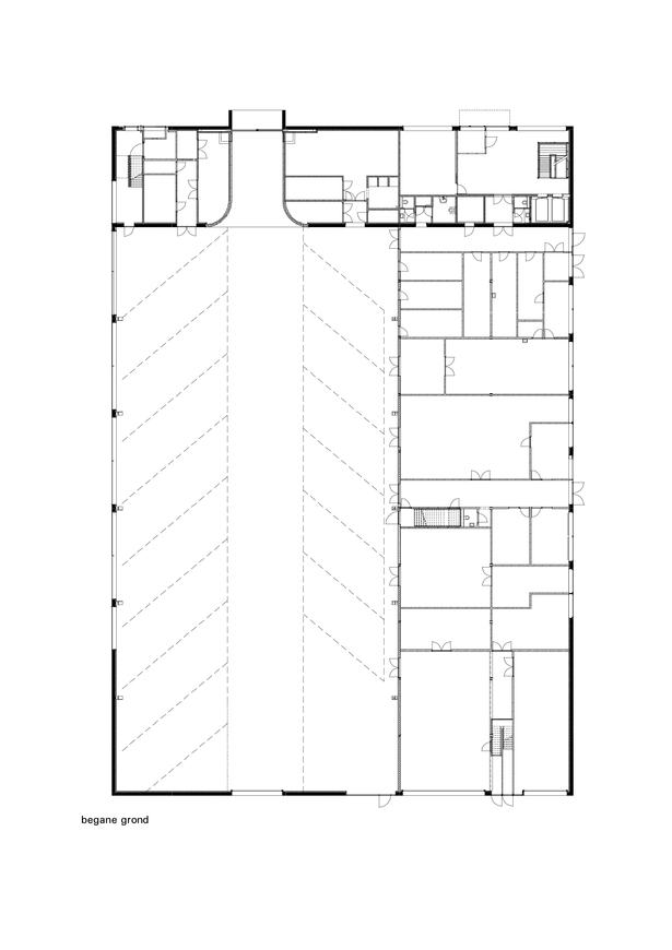 Claus en Kaan Architecten / Parking station level plan