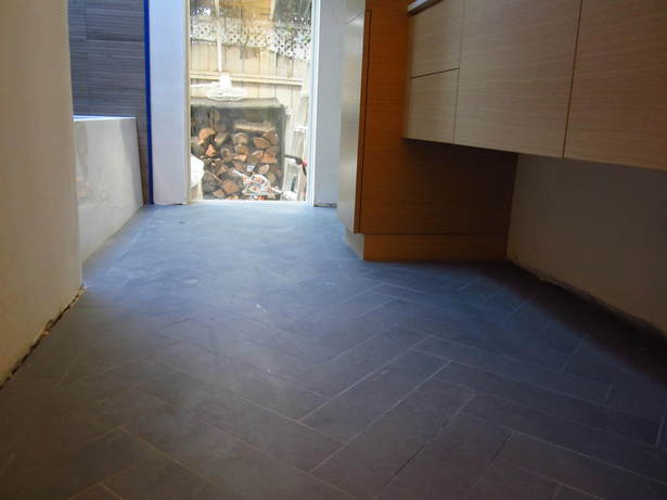 Herringbone in Grey Italian Porcelain