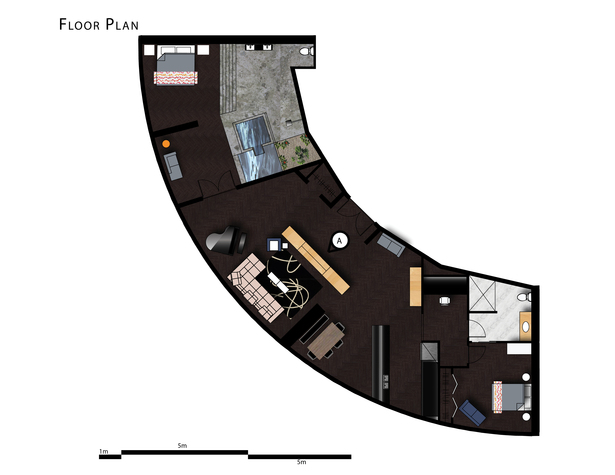 Executive Suite Rendered Floor Plan