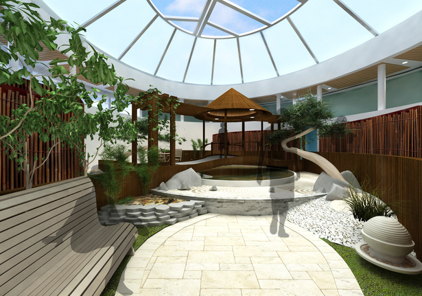 Indoor Zen Garden Design (side view)