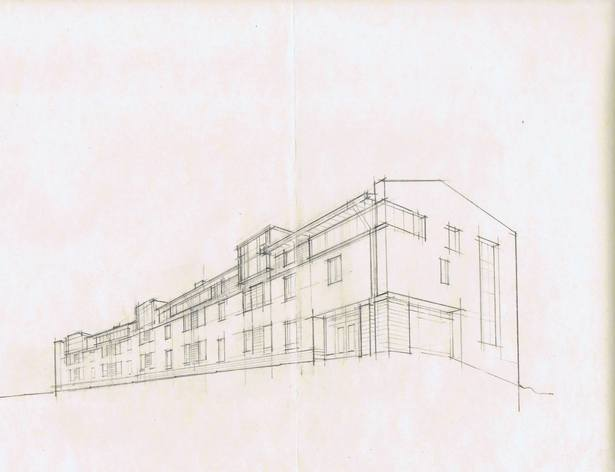 First sketch, image of the building