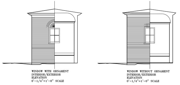 Window elevations.