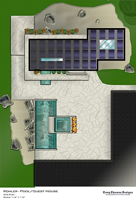 KOHLER GUEST/POOL HOUSE - SITE CONCEPT