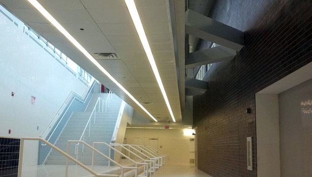 View of Lower Level Lobby ouside Gymnasium