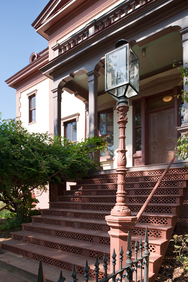 Hill Center's rehabilitated stairs