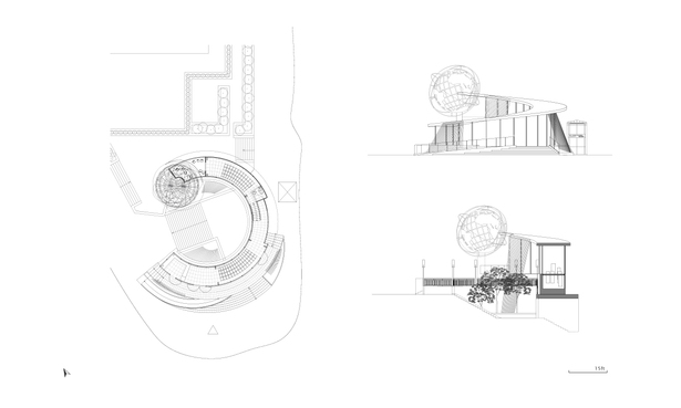 Library B : Plan & Elevation & Section