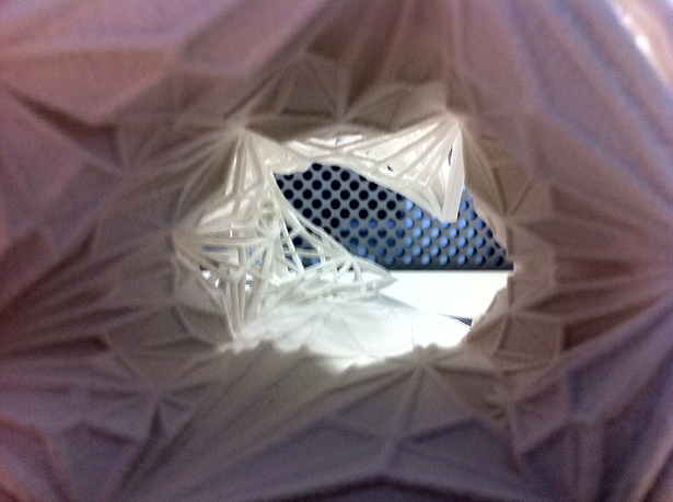 Interior shot of Tunnel 3dprint(Z-Corp)