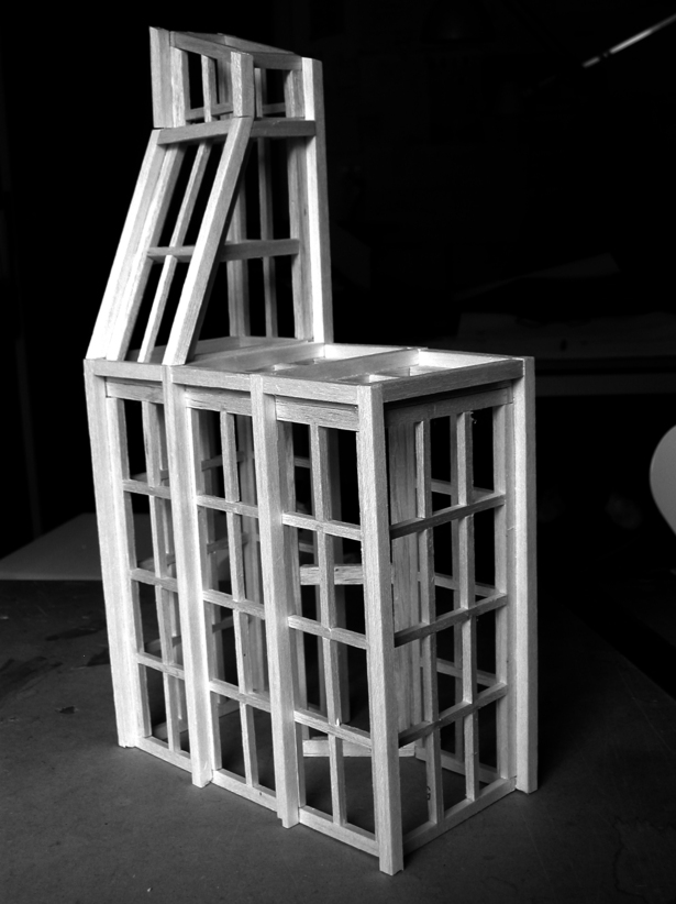 Study model for the bathroom structure